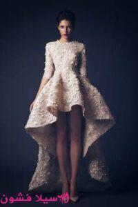 فستان سهرة بسيطة وراقية قصيرة